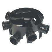 FloPlast D910 5-Inlet Inspection Chamber Base 450mm Black