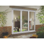 Ellbee uPVC Fold & Slide Double-Glazed Patio Door Right Hand 2390 x 2090mm