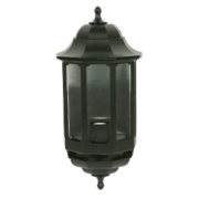 ASD 60W Black Half Lantern Wall Light