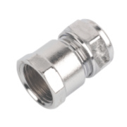 Chrome c x Fi Female Coupler 15 x ½