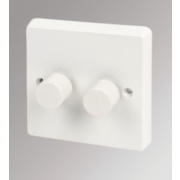 Crabtree 2-Gang 250W Moulded Dimmer Switch