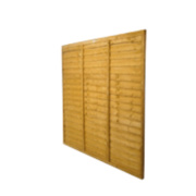 Larchlap Lap Fence Panels 1.8 x 1.8m Pack of 7