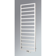 Venus Vertical Designer Towel Radiator White 1230 x 600mm 1883BTU