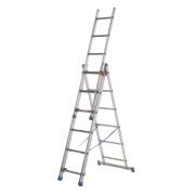 143107 Aluminium Combination Ladder 3 x 7 Rungs 4.23m