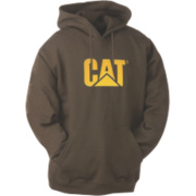 Cat Trademark Hooded Sweatshirt Hooded Sweatshirt Dark Earth