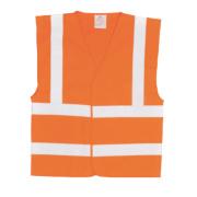 Hi-Vis Waistcoat Orange XX Large / XXX Large 55