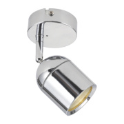 Lens Single Bathroom Spotlight Chrome GU10 20W