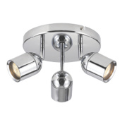 Lens 3-Light Bathroom Spotlight Chrome GU10 20W