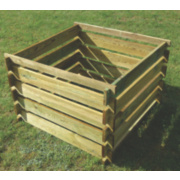 Apollo Wooden Composter Natural 0.9 x 0.9 x 0.6m