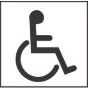 Disabled Toilet Symbol Sign 150 x 150mm