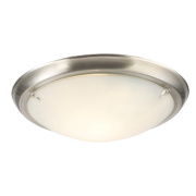 Temple 50187 Flush Ceiling Light Brushed Nickel 60W