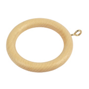 Curtain Rings Natural Pine Pack of 20
