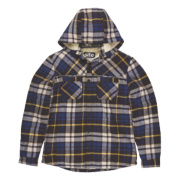 Site Alpine Borg-Lined Hoodie Blue Check Large 42-44