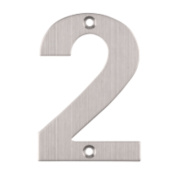 Eclipse Door Numeral 2 Satin Stainless Steel
