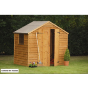 Forest Larchlap Premium Overlap Apex Shed 7 x 5 x 7' (Nominal)