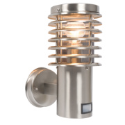 60W Brushed Stainless Steel Wall Light with PIR Sensor