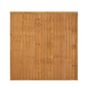 Larchlap Closeboard Fence Panels 1.8 x 1.8m Pack of 3