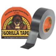 Gorilla Glue Cloth Tape 48 Mesh Black 48mm x 32m