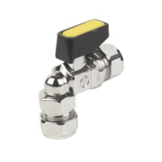 Angled Mini Ball Valve 15mm