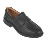 City Knights Slip-On Executive Safety Shoes Black Size 12