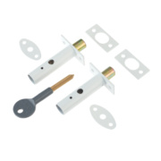 Yale Door Security Bolts White Pack of 2