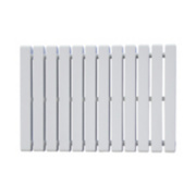 Erupto Square Horizontal Designer Radiator White 600 x 1185mm 4659BTU