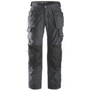 Snickers Rip-Stop Pro-Kevlar Floorlayer Trousers Grey/Black 38