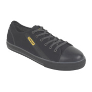 Stanley Newport Vulcanised Skate Safety Shoes Black Size 10
