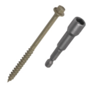 Timberfix Plus Flanged Hex Exterior Timber Screws 6.3 x 100 Pk50