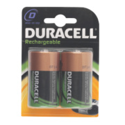 Duracell 75052461 D Rechargeable Batteries Pack of 2
