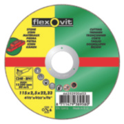 Flexovit Stone Cutting Discs 115 x 2.5 x 22.23mm Bore Pack of 5