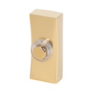 Byron Wired Illuminated Bell Push Brass 95 x 30mm