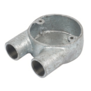 Galvanised 20mm Conduit Box 'U'