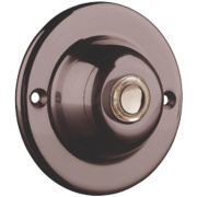 Byron Wired Circular Illuminated Bell Push Brushed Nickel 60mm