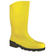 Dunlop. Devon H142211 Safety Wellington Boots Yellow Size 10