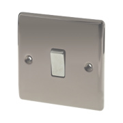 British General 1-Gang 2-Way 10AX Light Switch Black Nickel