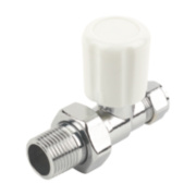 Straight Radiator Valve Chrome 10mm x ½