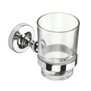 Croydex Flexi-Fix Worcester Tumbler & Holder Chrome 67 x 107 x 96mm