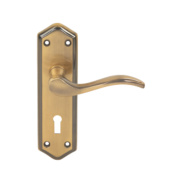 Jedo Paris Lever Lock Door Handle Antique Bronze