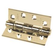 Grade 13 Fire Door Hinge Electro Brass Stainless Steel 102 x 76mm Pk3