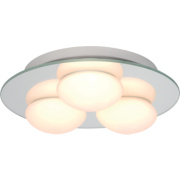 Agra Triple Bathroom Ceiling Light Mirrored Glass G9 25W