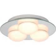 Agra Triple Bathroom Ceiling Light Mirrored Glass G9 25W