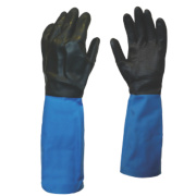 Showa Best Best Chem Master Gauntlets Blue/Black Large