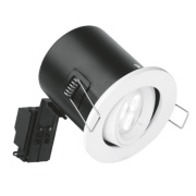 Aurora Fire Rated Adjustable Fire Rated LED Downlight IP20 White 50W
