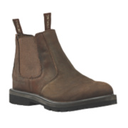 Sterling Steel SS808SM Dealer Safety Boots Brown Size 7