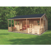 Sherwood Log Cabin Assembly Included 5.9 x 5.3 x 3m
