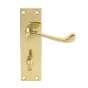 Carlisle Brass Victorian Lever on Backplate Door Handle Pair Polished Brass