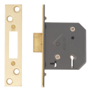 Yale 5-Lever Mortice Deadlock Polished Brass
