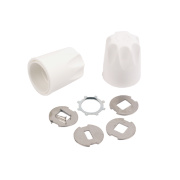 Replacement Safety Radiator Valve Caps White Pack of 2