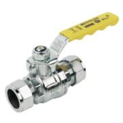Pegler Gas Ball Valve Yellow 22mm